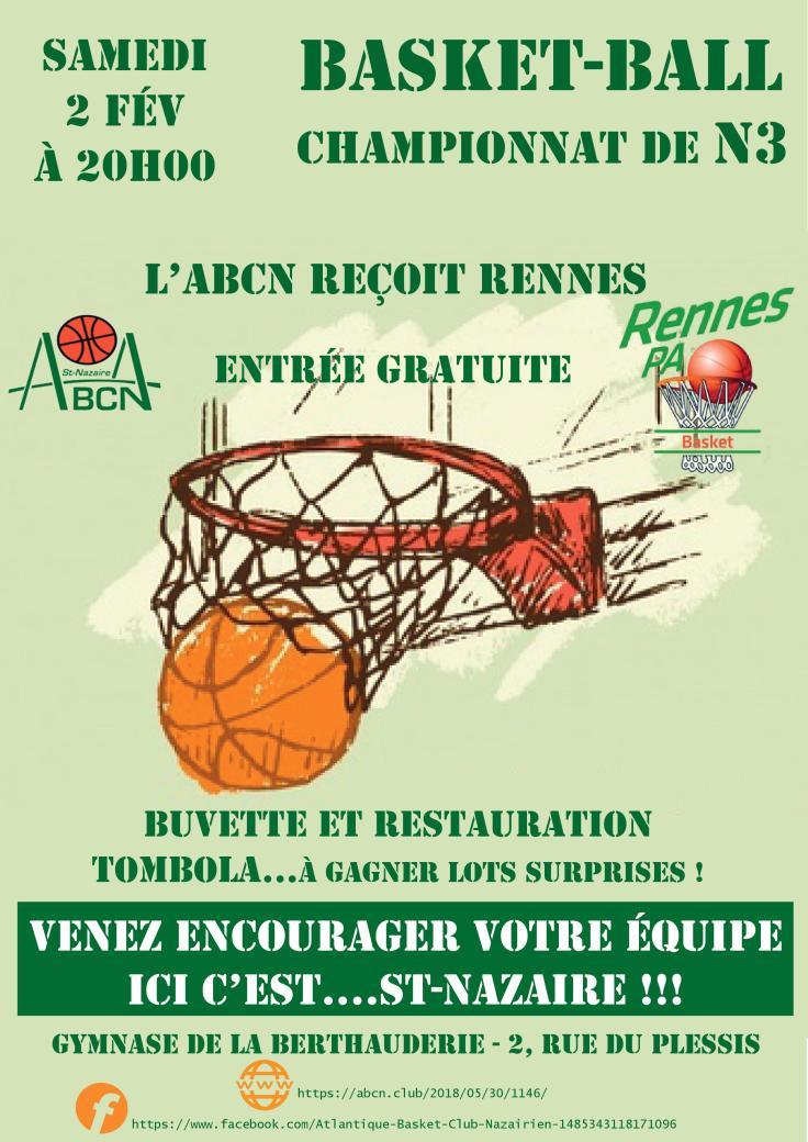 affiche match rennes