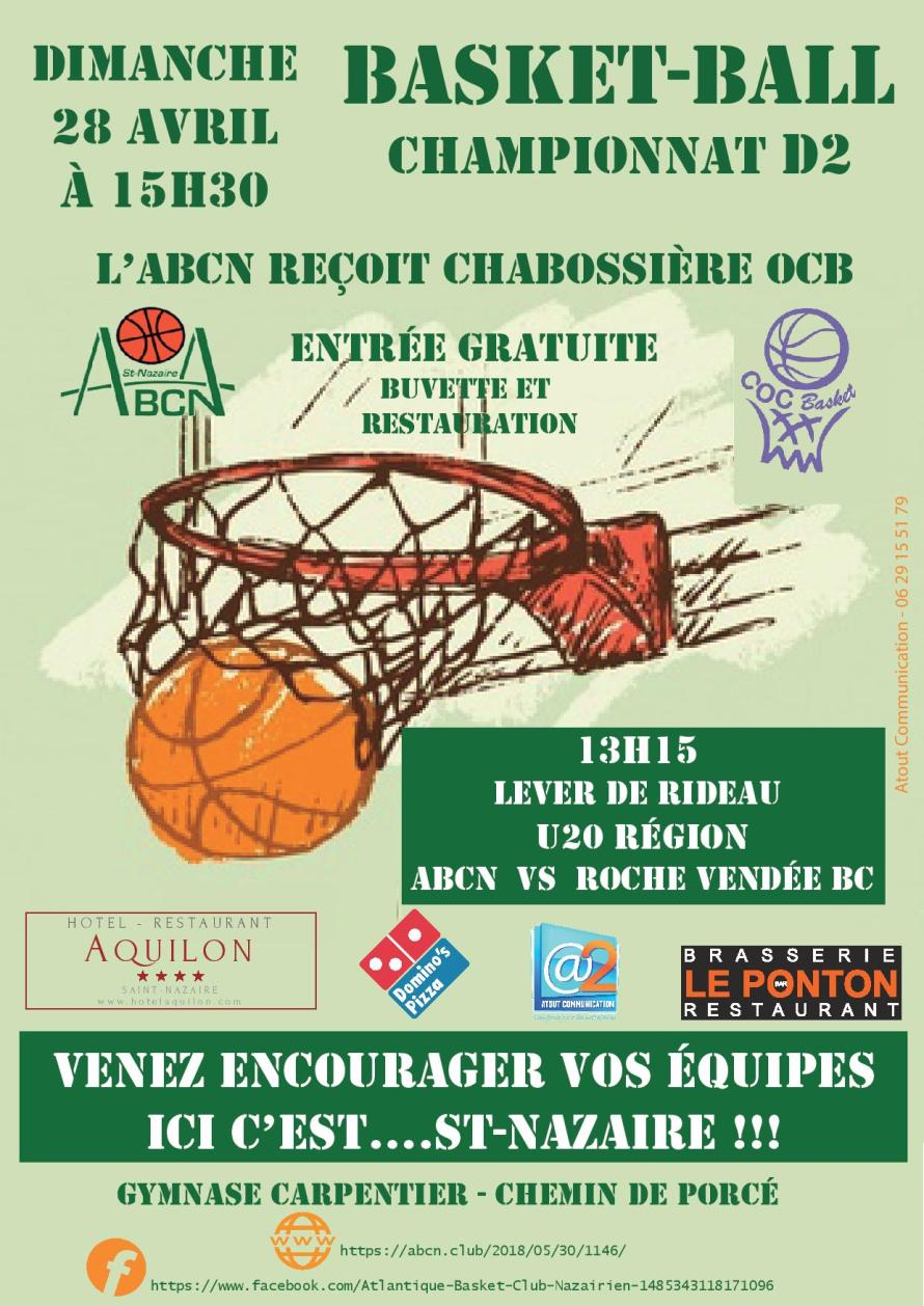 AFFICHE MATCH S2 VS CHABOSSIERE