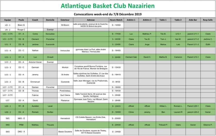 planning 7-8 decembre